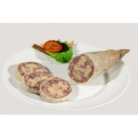 Cou de canard farci 25% foie gras
